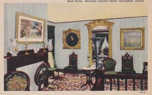 Illinois Springfield Abraham Lincoln's Home Back Parlor Curteich