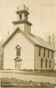 ME, Friendship, Maine, Methodist Church, Eastern Illustrated No. 34, RPPC