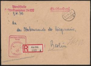 RARE German WWII UBoot Befehlshaber Geheim / Secret Cover 17288