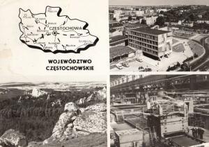 Wojewodztwo Czestochowskie Poland Polish Map Postcard