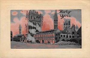 Martyr Ypres Carte Postale, Unused indentation in card