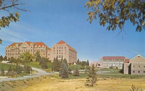 Helena Montana~Carroll College w/Additions~Postcard 1950s