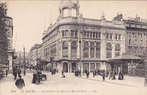 LE HAVRE, Seine Maritime, France, 1900-1910's; Les Galeries Du Havre Et Rue D...