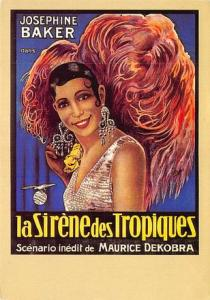 Josephine Baker, La Sirene Des Tropiques Movie Poster Postcard
