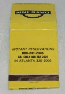 Days Inn Atlanta Georgia 20 Strike Matchbook Cover