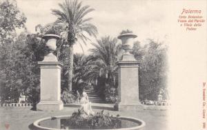 PALERMO, Sicilia, Italy, 1900-1910's; Orto Botanico, Vasca Del Paride E Viale...