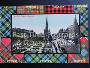 c1907 TARTAN MacKenzie NacGregor, Rob Roy, Murray etc: Princes Street 170515