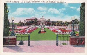 California Los Angeles Sunken Gardens And Museum Expositiion Park