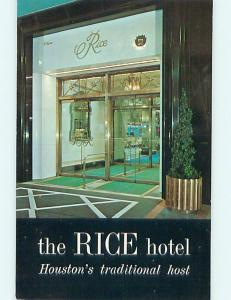 Unused Pre-1980 RICE HOTEL Houston Texas TX Q5658-33