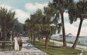 Florida Daytona South Beach Street Showing Yacht Club