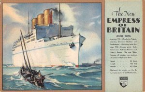 Canadian Pacific Steamships Empress of Britain Vintage Postcard JF686467