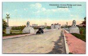 Early 1900s Connecticut Avenue Bridge and Lions, Washington, DC Postcard