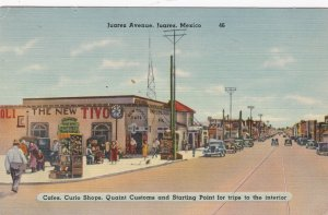 Mexico Juarez Cafes & Curio Shops On Juarez Avenue 1944 sk3338