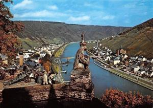 Cochem Mosel Schloss Statue, River Bridge Pont Panorama