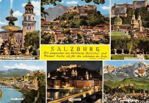 Salzburg, Staatsbruecke Mirabellgarten Residenz Glockenspiel Bridge