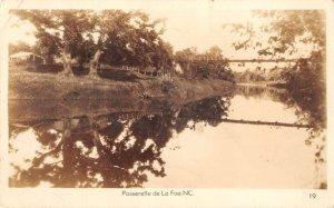 La Foa New Caledonia Passerelle River Scenic View Real Photo Postcard AA41433