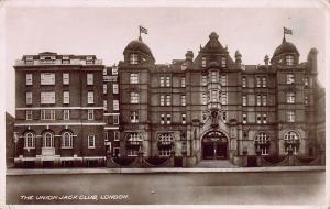 The Union Jack Club, London, England, Early Real Photo Postcard, Unused