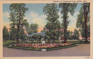 Salem Entrance To Centennial Park Salem Ohio