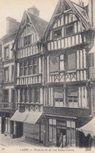 CAEN, France, 1910-1920s, Maisons de la rue Saint-Pierre