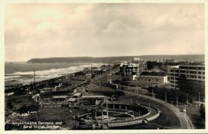 South Africa Amphitheatre Gardens and Band Strand Durban RPPC 03.42