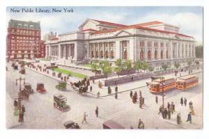 Public Library New York NY Vintage 1910 Postcard