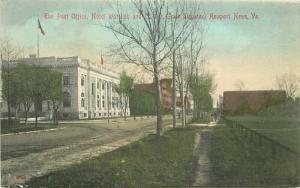 C-1910 Hotel Warwick Post Office Grain Elevator Newport News Virginia 2591
