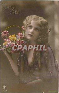 Postcard Old Woman V�UX