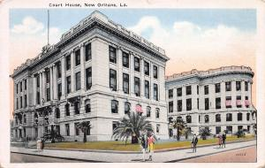 Court House, New Orleans, Louisiana, Early Postcard, Unused