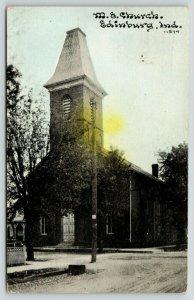 Edinburg Indiana~Methodist Episcopal ME Church~Fence House~1913 CU Williams PC