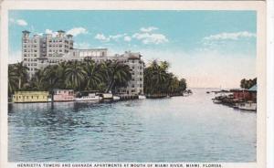 Florida Miami Henrietta Towers and Granada Apartments At Mouth Of Miami River...