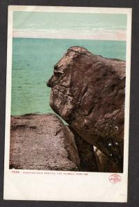 ME Washington Profile Rock Nubble York Maine UDB Postcard Vintage PC