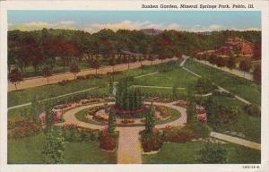 Illinois Pekin Sunken Garden Mineral Springs Park 1950