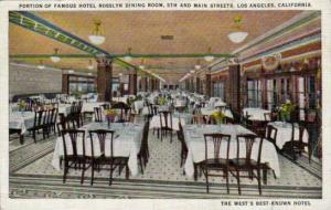 Portion of Famous Hotel Rosslyn Dining Room,5th and Main Streets,Los Angeles,...