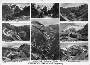 Italy Strada dello Stelvio Stilfserjoch Strasse, Serpentine, Gruppo dell'Orties