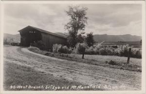 Vermont Stowe  West branch covered bridge RPC