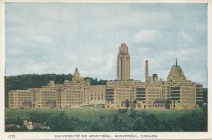 University of Montreal, Montreal, Canada, Postcard, Unused