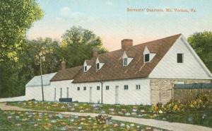 Servant's Quarters, Mt. Vernon, VA, early 1900s unused Po...
