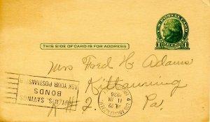 Postal Card - UX27, Jefferson, green, 1 cent
