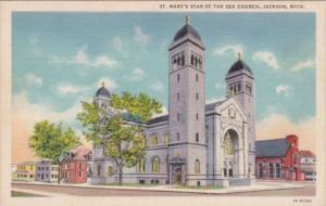 Church St Mary's Star Of The Sea Church Jackson Michigan Curteich