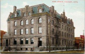 Post Office Calgary AB Alberta Unused Royal Curio & News Postcard E78