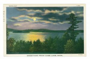 Cass Lake, Minnesota to Highland Park, Illinois 1942 used Greeting Postcard