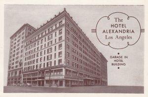 LOS ANGELES, California,1950-1960s ; The Hotel Alexandria