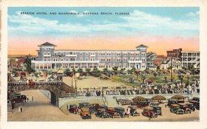 Seaside Hotel and Boardwalk Daytona Beach, Florida Postcard