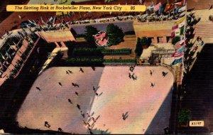 New York City The Skating Rink At Rockefeller Center 1952
