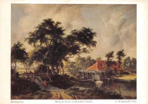 Art Postcard, A Watermill (1899) by Hobbema X59