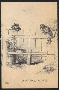 VICTORIAN TRADE CARD Martin Agricultural Implements Cats & Bowl Of Cream Great