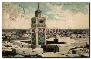Tunisia Tunis Old Postcard General view