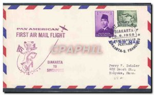 Letter Indonesia Jakarta to Singapore May 6, 1959