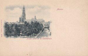 ANVERS, Belgium, 1900-1910's; Place Verte Et La Cathedrale