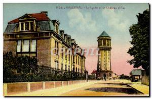 Old Postcard Haguenau high school and Chateau d & # 39eau